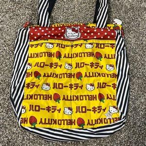 Hello Kitty Jujube Strawberry Stripes Tote Bag
